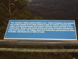 Sign at the observation point