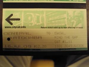 Ticket to Katoomba